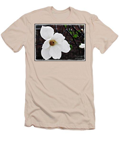 Magnolia Memories 1 Men's T-Shirt (Slim Fit) by Sarah Loft