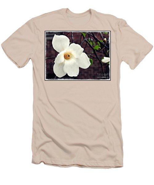 Magnolia Memories 2 Men's T-Shirt (Slim Fit) by Sarah Loft