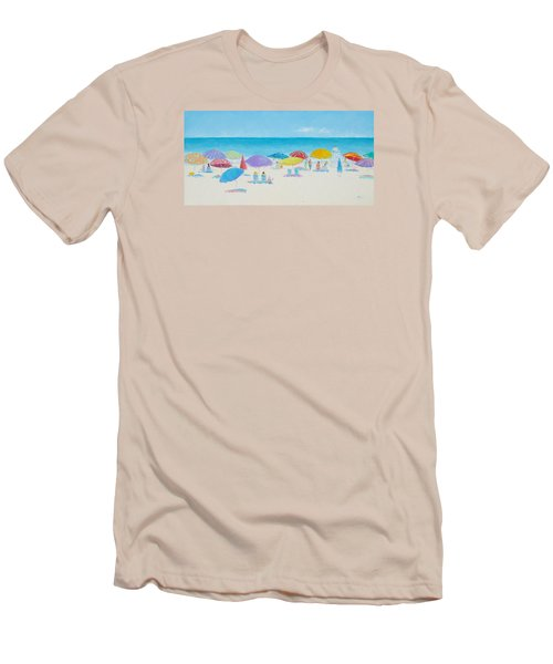 Main Beach East Hampton  Men's T-Shirt (Athletic Fit)
