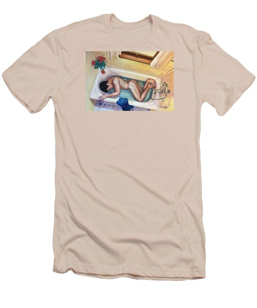 Man In Bathtub #3 Men's T-Shirt (Athletic Fit)