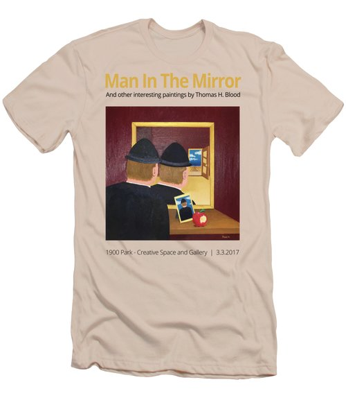 Man In The Mirror T-shirt Men's T-Shirt (Slim Fit) by Thomas Blood