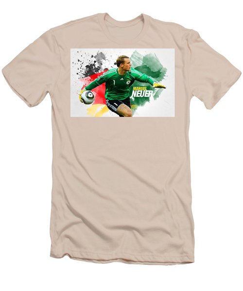 Manuel Neuer Men's T-Shirt (Slim Fit) by Semih Yurdabak