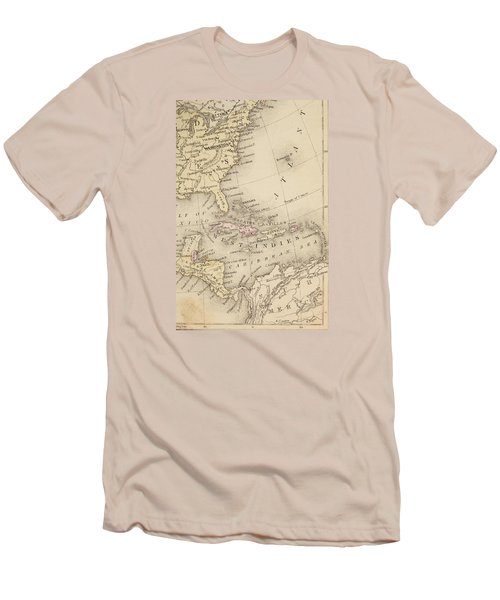 Map Men's T-Shirt (Slim Fit) by Sample