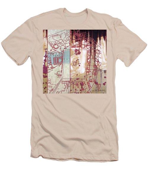 Maps #27 Men's T-Shirt (Slim Fit) by Joan Ladendorf