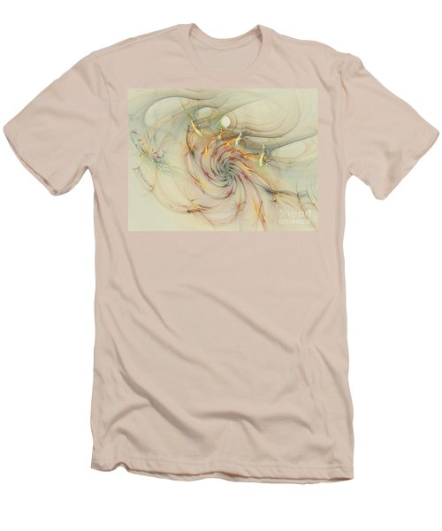 Marble Spiral Colors Men's T-Shirt (Slim Fit) by Deborah Benoit