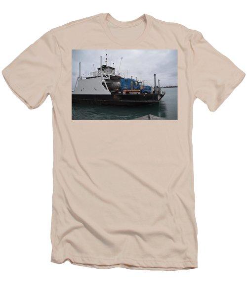 Marine City Mich Car Truck Ferry Men's T-Shirt (Slim Fit) by Randy J Heath