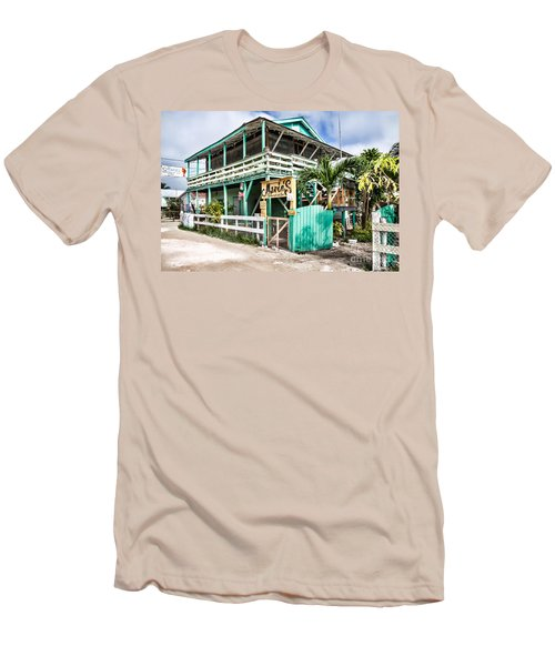 Marin's On Caye Caulker Men's T-Shirt (Slim Fit) by Lawrence Burry