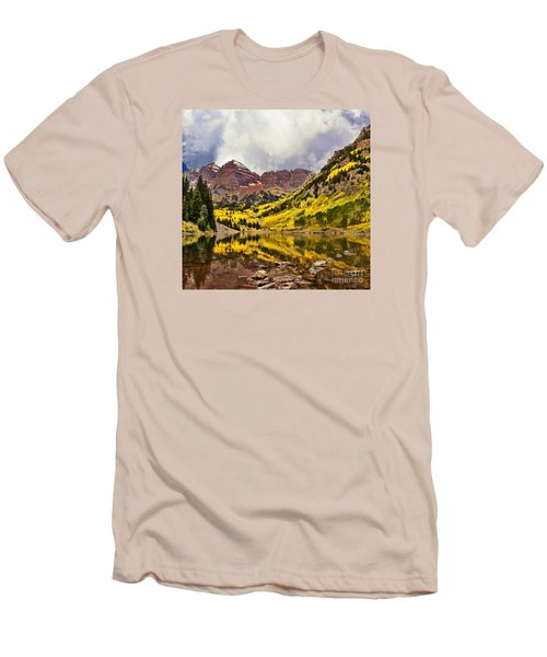 Maroon Bells Lake Men's T-Shirt (Athletic Fit)