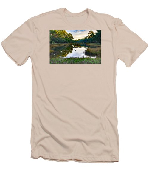Men's T-Shirt (Slim Fit) featuring the photograph Marsh In The Morning by Patricia Schaefer