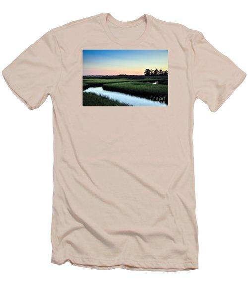 Marsh Sunset Men's T-Shirt (Slim Fit) by Debbie Green