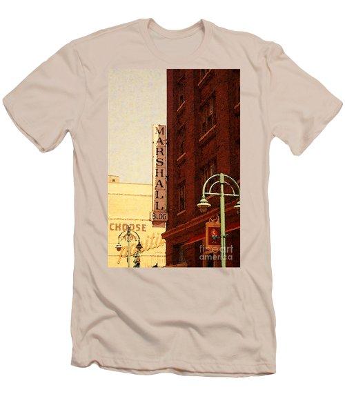 Marshall Bldg Men's T-Shirt (Slim Fit) by David Blank