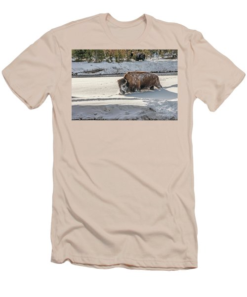 Masked Bison Men's T-Shirt (Athletic Fit)