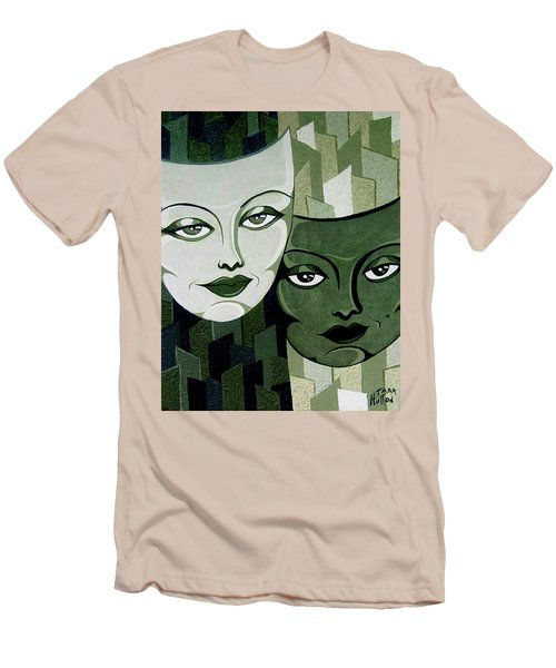 Masks Verde Men's T-Shirt (Slim Fit) by Tara Hutton