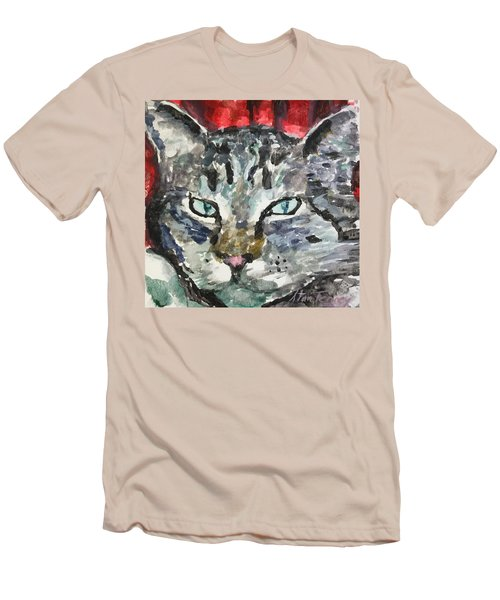 Men's T-Shirt (Slim Fit) featuring the painting Mason by Stan Tenney