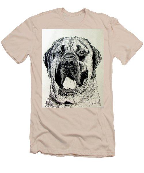 Mastiff Men's T-Shirt (Slim Fit) by Stan Hamilton