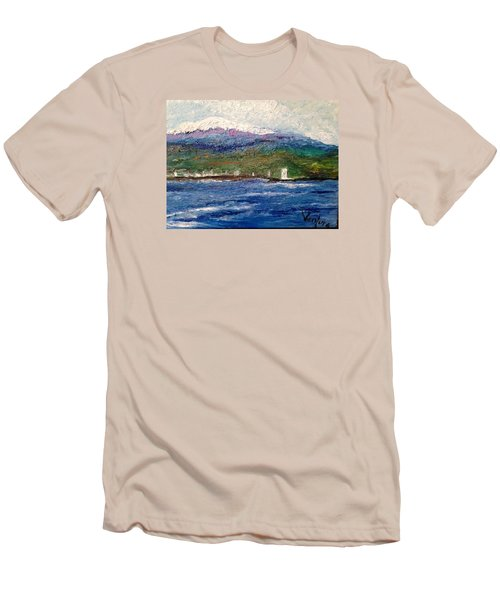 Mauna Kea At Hilo Bay Men's T-Shirt (Athletic Fit)