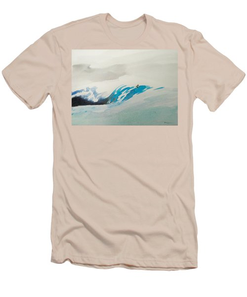 Men's T-Shirt (Slim Fit) featuring the painting Mavericks by Ed Heaton