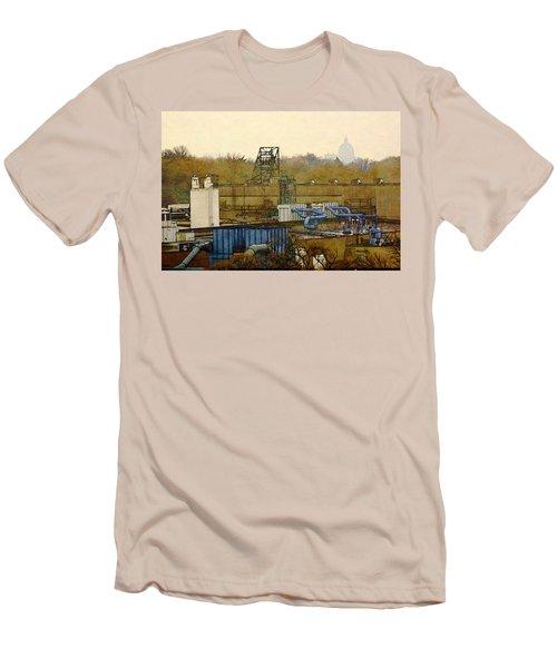 Maynard Steel Men's T-Shirt (Slim Fit) by David Blank