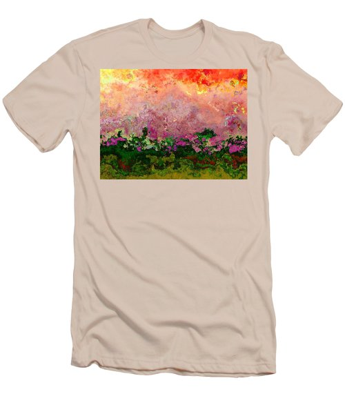Men's T-Shirt (Slim Fit) featuring the digital art Meadow Morning by Wendy J St Christopher