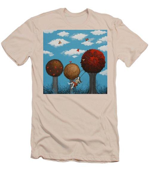 Meditation Under The Trees Men's T-Shirt (Athletic Fit)