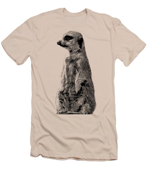 Meerkat Etching Men's T-Shirt (Slim Fit) by Greg Noblin