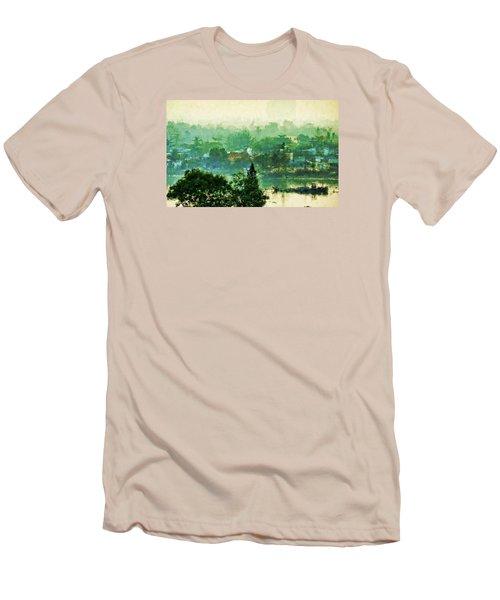 Mekong Morning Men's T-Shirt (Slim Fit) by Cameron Wood