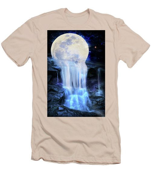 Melted Moon Men's T-Shirt (Athletic Fit)