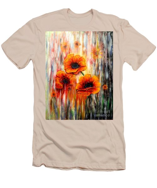 Melting Flowers Men's T-Shirt (Athletic Fit)