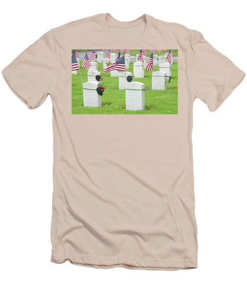 Memorial Day Two Men's T-Shirt (Slim Fit) by Caroline Stella
