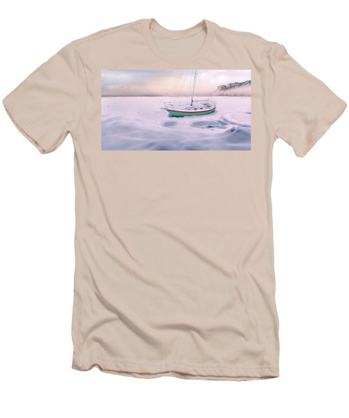 Men's T-Shirt (Athletic Fit) featuring the photograph Memories Of Seasons Past - Prisoner Of Ice by John Poon
