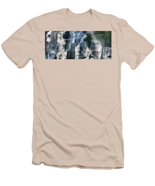 Memory Hotel - Dark Canvas Abstract Art Men's T-Shirt (Slim Fit) by Modern Art Prints