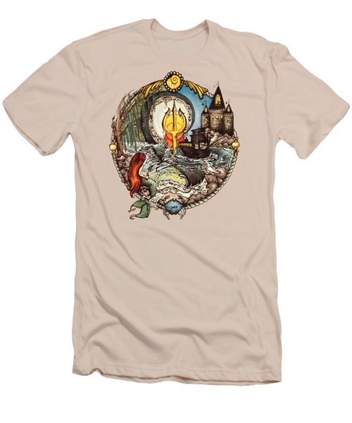 Mermaid Part Of Your World Men's T-Shirt (Slim Fit) by Cat Dolch