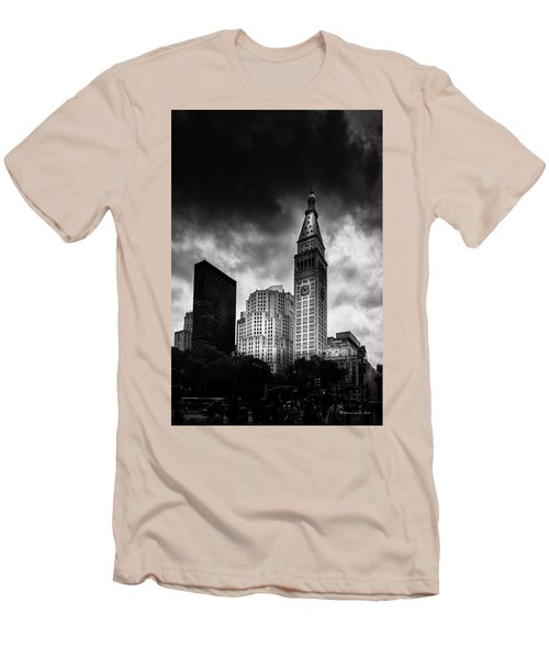 Men's T-Shirt (Slim Fit) featuring the photograph Met-life Tower by Marvin Spates