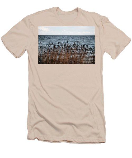 Metallic Sea Men's T-Shirt (Slim Fit) by Ana Mireles