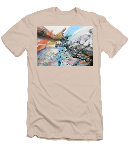 Men's T-Shirt (Slim Fit) featuring the painting Metamorphosis by J- J- Espinoza