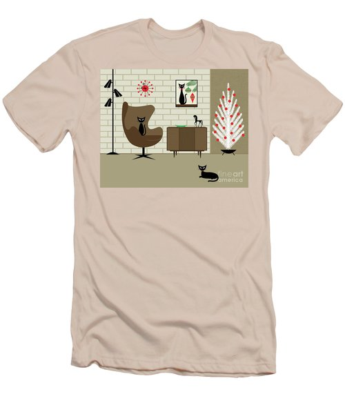 Mid-century Christmas Men's T-Shirt (Athletic Fit)