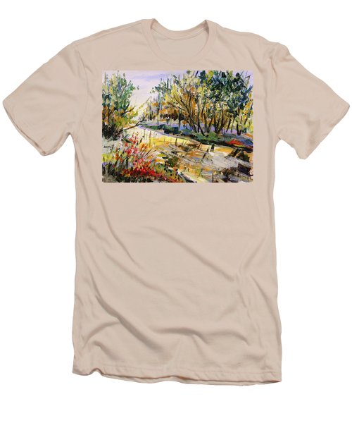 Men's T-Shirt (Slim Fit) featuring the painting Mid-morning Light by John Williams