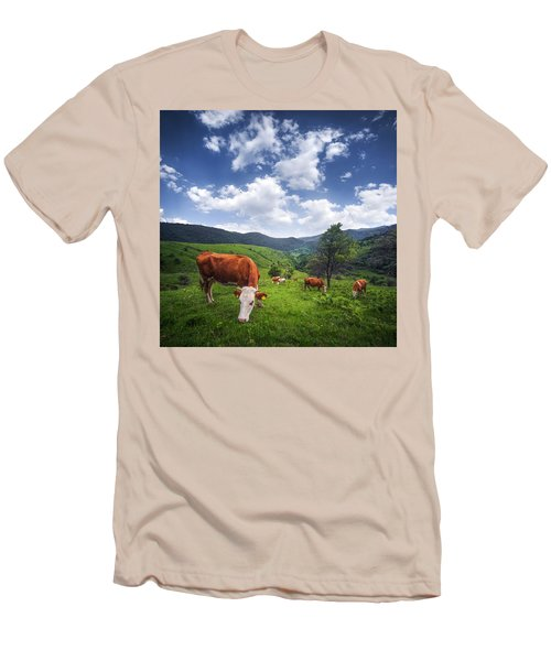 Men's T-Shirt (Slim Fit) featuring the photograph Milka by Bess Hamiti