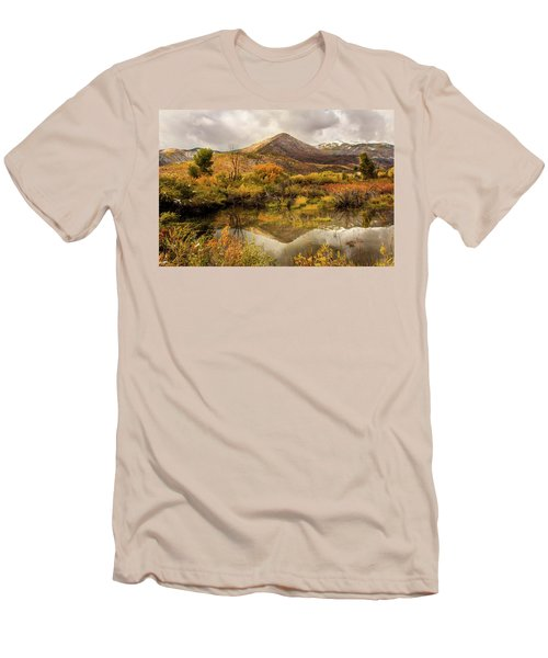 Mill Canyon Peak Reflections Men's T-Shirt (Athletic Fit)