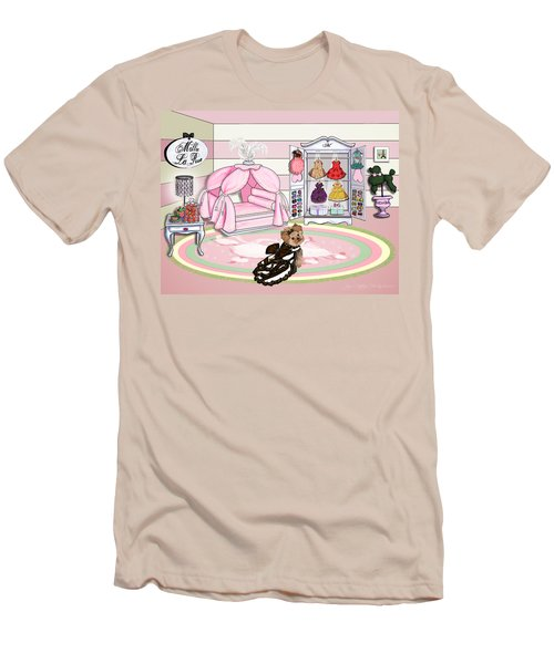 Millie Larue's French Room Men's T-Shirt (Slim Fit) by Catia Cho