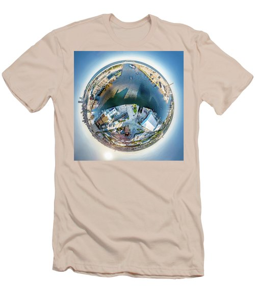 Men's T-Shirt (Athletic Fit) featuring the photograph Milwaukee And Kk Rivers by Randy Scherkenbach