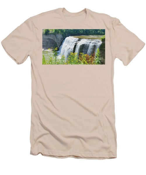 Men's T-Shirt (Slim Fit) featuring the photograph Mini Falls by Raymond Earley