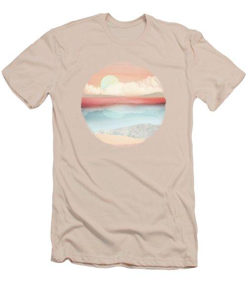 Mint Moon Beach Men's T-Shirt (Athletic Fit)