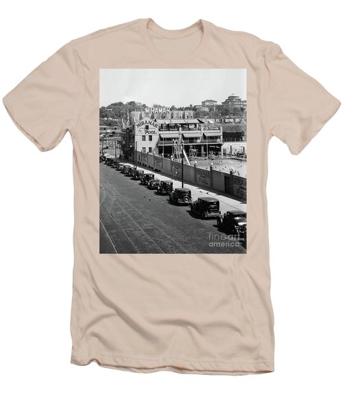 Men's T-Shirt (Athletic Fit) featuring the photograph Miramar Saltwater Pool by Cole Thompson