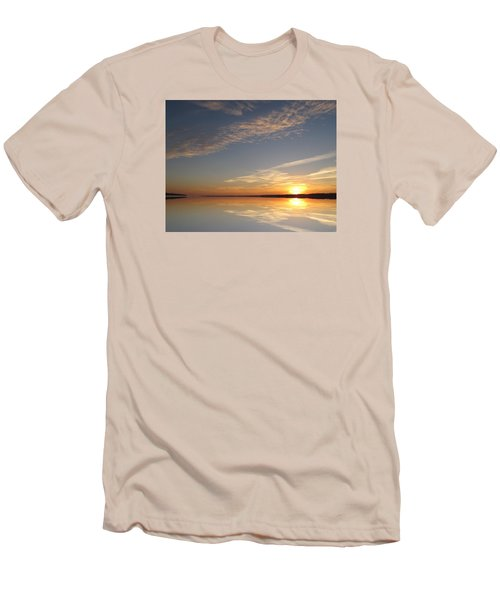 Men's T-Shirt (Slim Fit) featuring the photograph Mirror Lake Sunrise  by Lyle Crump