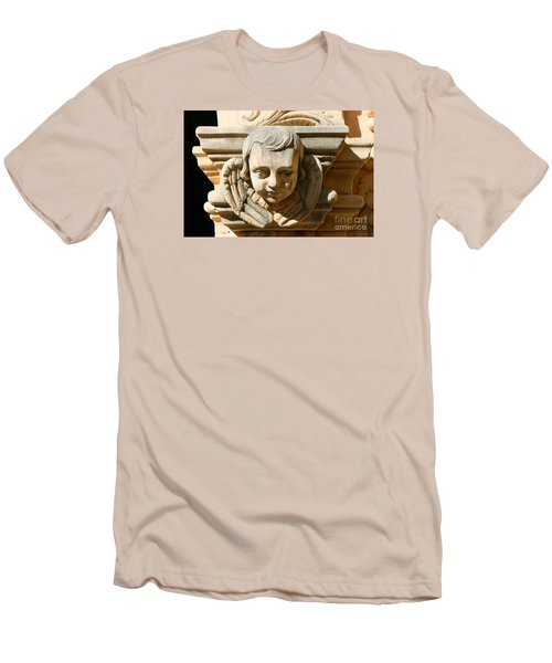 Men's T-Shirt (Slim Fit) featuring the photograph Mission San Jose Angel by Jeanette French