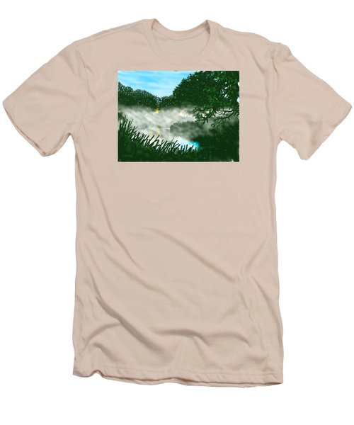 Mist On The River Ouse Men's T-Shirt (Athletic Fit)