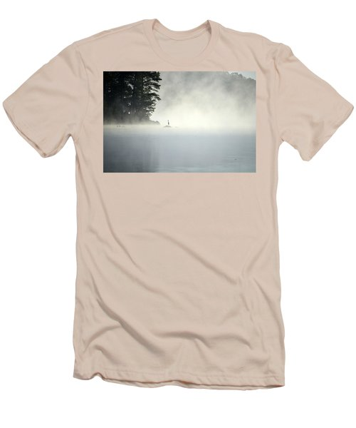 Misty Heron Men's T-Shirt (Athletic Fit)