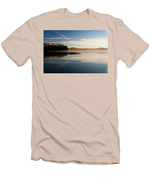 Men's T-Shirt (Slim Fit) featuring the photograph Misty Morning by Brent L Ander