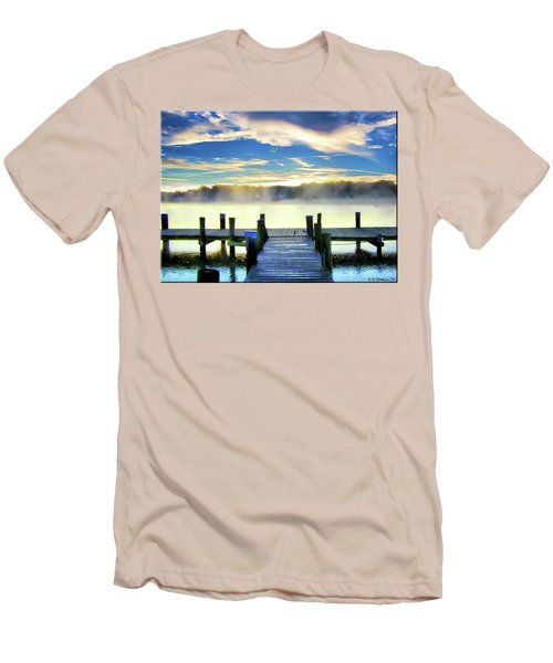 Men's T-Shirt (Slim Fit) featuring the photograph Misty Morning On Rock Creek by Brian Wallace